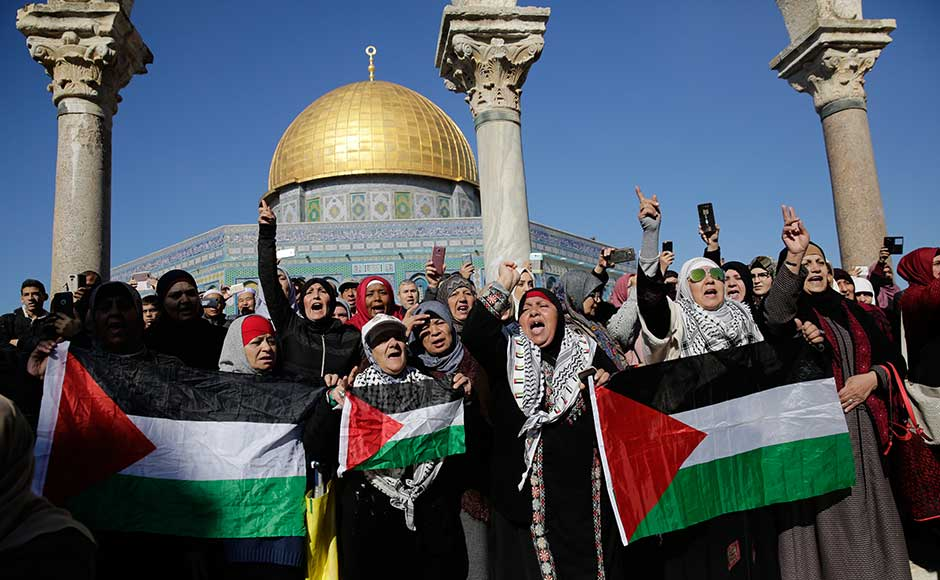 The Palestinians seek east Jerusalem, captured by Israel in 1967, as their capital. Israel claims the entire city, including East Jerusalem, home to sensitive Jewish, Muslim and Christian holy sites, as its undivided capital. The opposing claims lie at the heart of the Israeli-Palestinian conflict and have often spilled over into deadly violence. AP