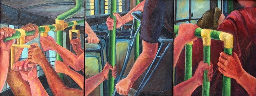 15 Tangled Journey II 2015, 10x30 inches, Oil on Canvas