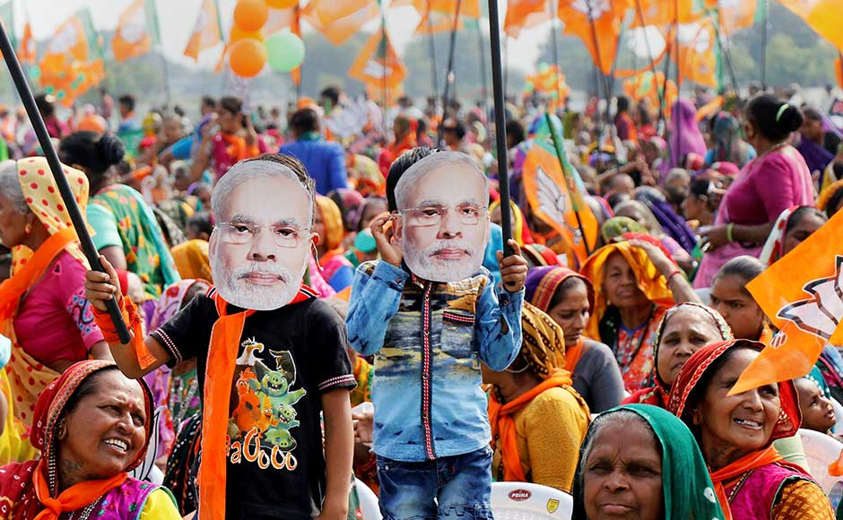 Modi addressed four rallies on Sunday in Palanpur, Sanand, Kalol and Vadodara. These four areas are situated in north and central Gujarat, which go to polls on 14 December. PTI