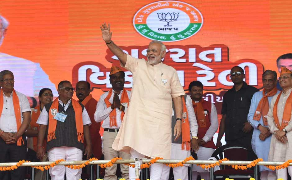 On the second-day of his two-day visit to poll-bound state, Modi addressed a rally at Malanpada in Dharampur, a Congress bastion. Addressing the gathering, Modi slammed Rahul Gandhi's expected elevation as Congress president, dubbing it as