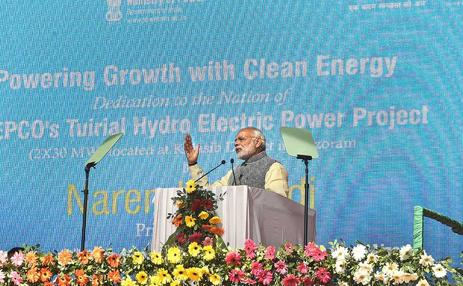 In Mizoram, he dedicated the 60-MW Tuirial hydropower power project, which makes it the third power-surplus state in the North East, after Sikkim and Tripura. The project is expected to produce 251 million units of electricity annually. PTI