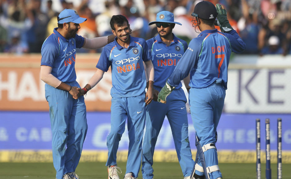 After losing Tharanga, Sri Lanka completely lost the plot thanks to some good spin bowling from Kuldeep Yadav and Yuzvendra Chahal. The visitors were bundle out for 215, with Kuldeep and Chahal taking three wickets each.