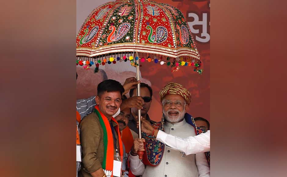 Modi also slammed Congress for not supporting his government over the bullet train project and said,