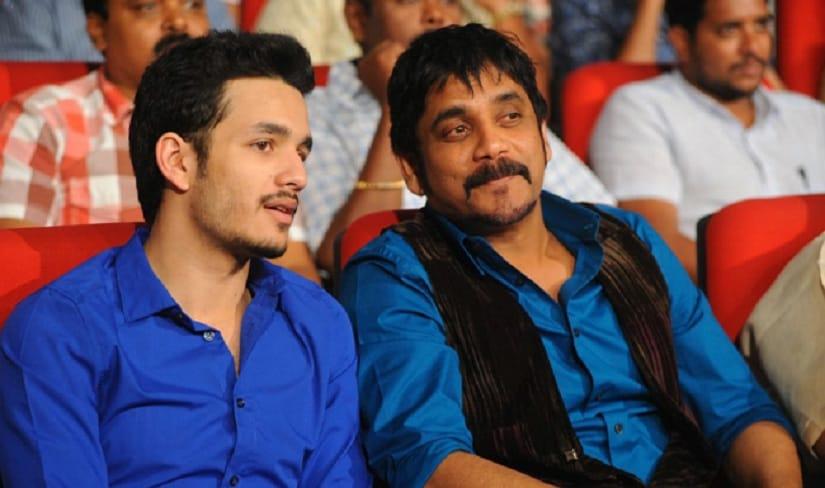 Akhil Akkineni, Nagarjuna at Greeku Veerudu Movie Audio Release Photos