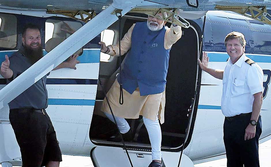 Modi said that his trip depicted the Centre's strength to our resolve to harness waterways for India's progress. He also said the seaplane services can be helpful during times of medical emergencies. It also augurs well for tourism, Modi added on Twitter. PTI