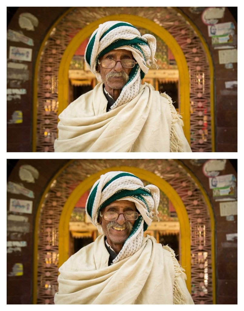 He was hanging out one winter's afternoon, with his friends, at the remote Adi Badri Temple near the village of Alipur, in Rajasthan, India...so I asked him to smile. Photo credit © Jay Weinstein
