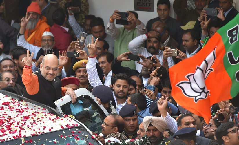 Though the BJP's tally went down the party took comfort in the 1.25 per cent increase in its vote share compared to 2012 polls. PTI