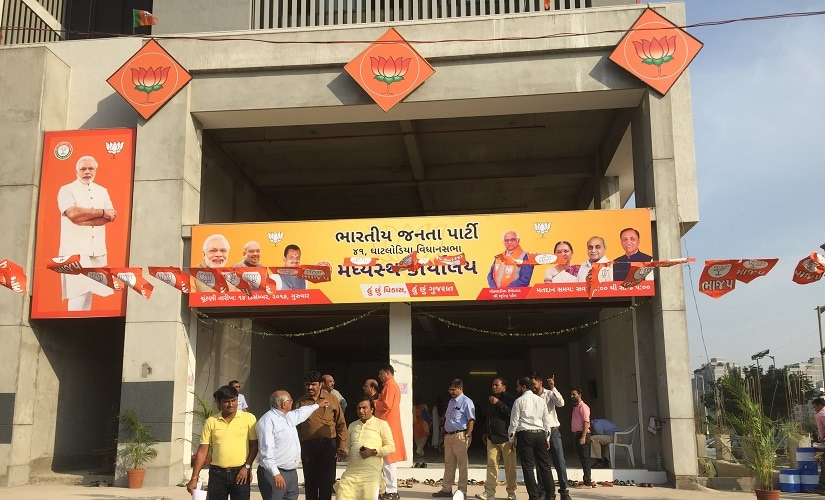 In an attempt to please Anandiben Patel, the BJP has fielded her close aide from her Ghodiyal constituency. Image procured by the author.
