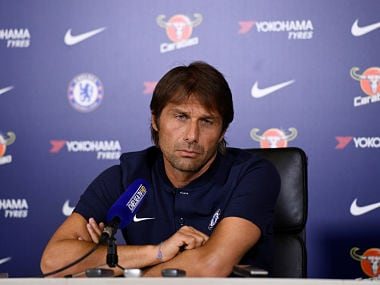 File image of Chelsea manager Antonio Conte during a press conference. Reuters