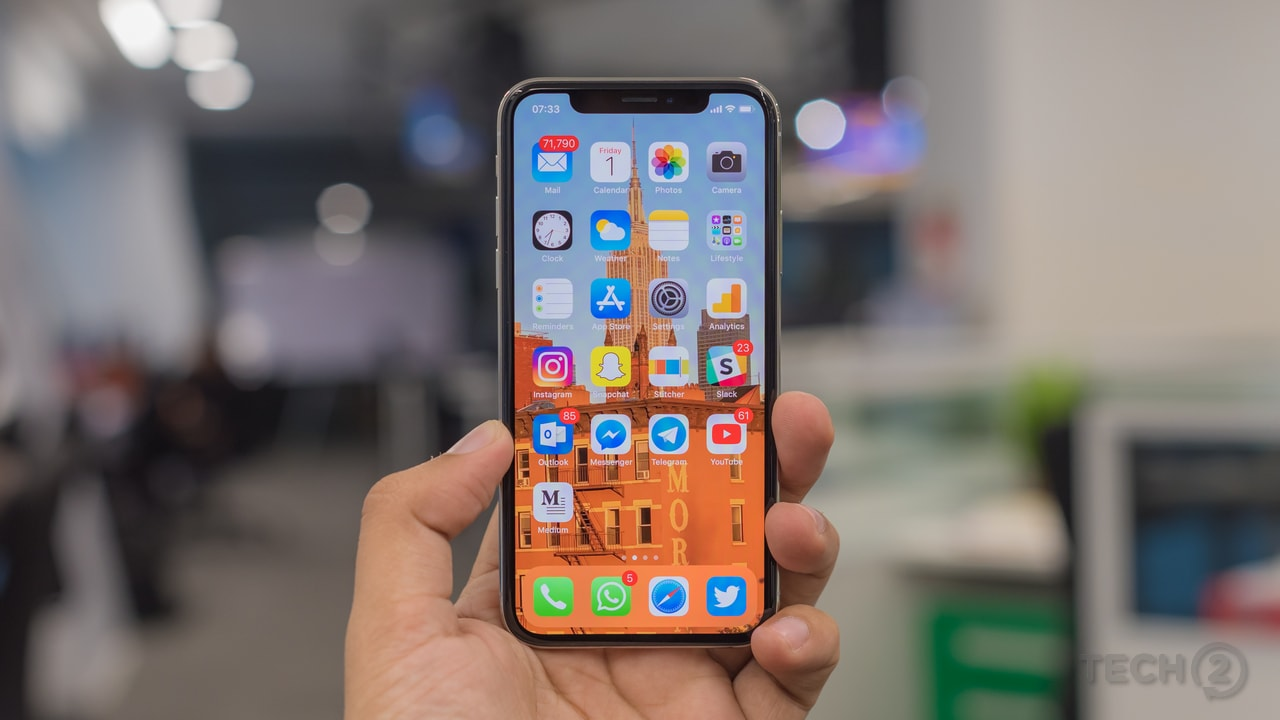 The Apple iPhone X. Image: tech2/Rehan Hooda