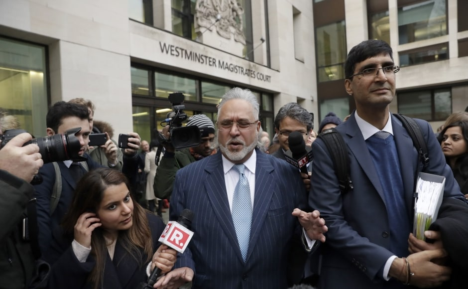 The 61-year-old businessman, who has been in self-imposed exile in the UK since March 2016 when he left India, is wanted in India on charges relating to his defunct Kingfisher Airlines defaulting on loans from various Indian banks amounting to Rs 9,000 crore. AP