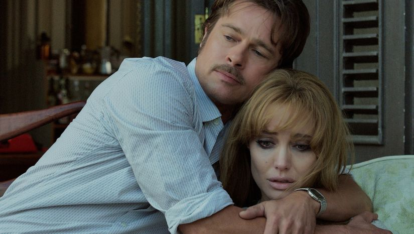 Pitt and Jolie in a still from By the Sea