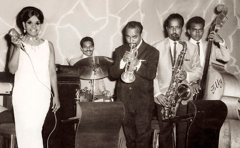 Chris Perry and Lorna Cordeiro performing at Gaylord restaurant, Delhi 1966. Photo courtesy: Lorna Cordeiro, Serendipity Arts Festival