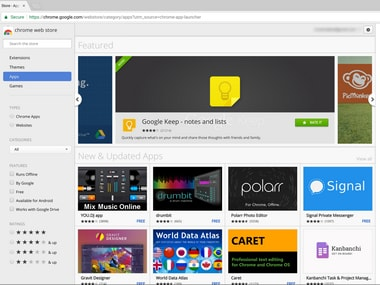 Chrome Apps. Image: Ars Technica