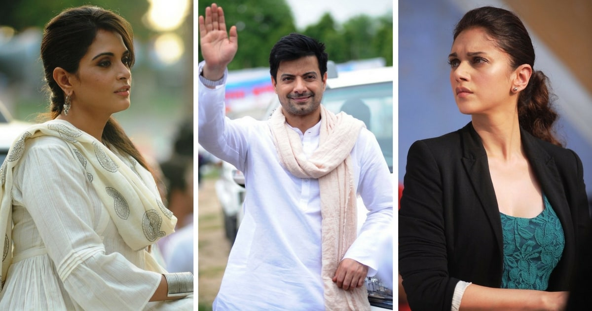 Richa Chadha, Rahul Bhat and Aditi Rao Hydari in stills from Daasdev. Images via Twitter/@taran_adarsh