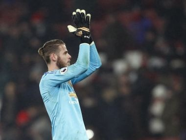 Manchester United goalkeeper David de Gea. AP