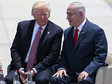 File image of US president Donald Trump and Israel prime minister Benjamin Netanyahu. AP