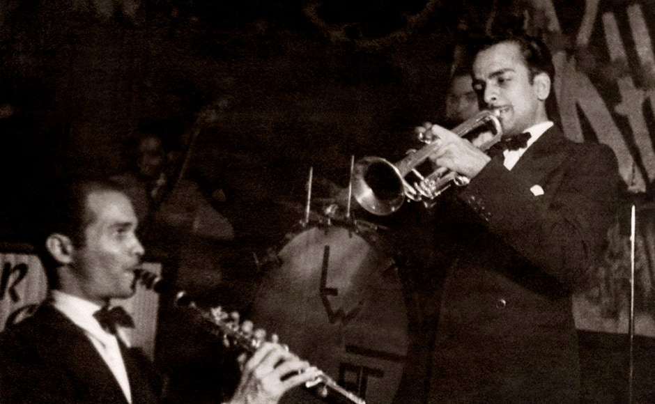 Frank Fernand during a performance of Rhapsody in Blue and at the Capitol Cinema. Bombay, late 1930s. Photo courtesy: Frank Fernand Family, Serendipity Arts Festival