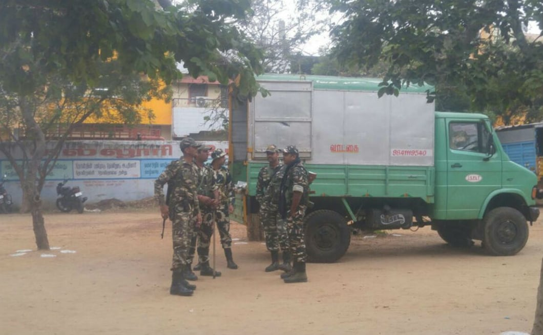 Elaborate security arrangements were in place with about 2,000 state police personnel, 15 companies of Central Armed Police Forces, including CRPF deployed across 256 polling stations. Ayswarya Murthy/101reporters