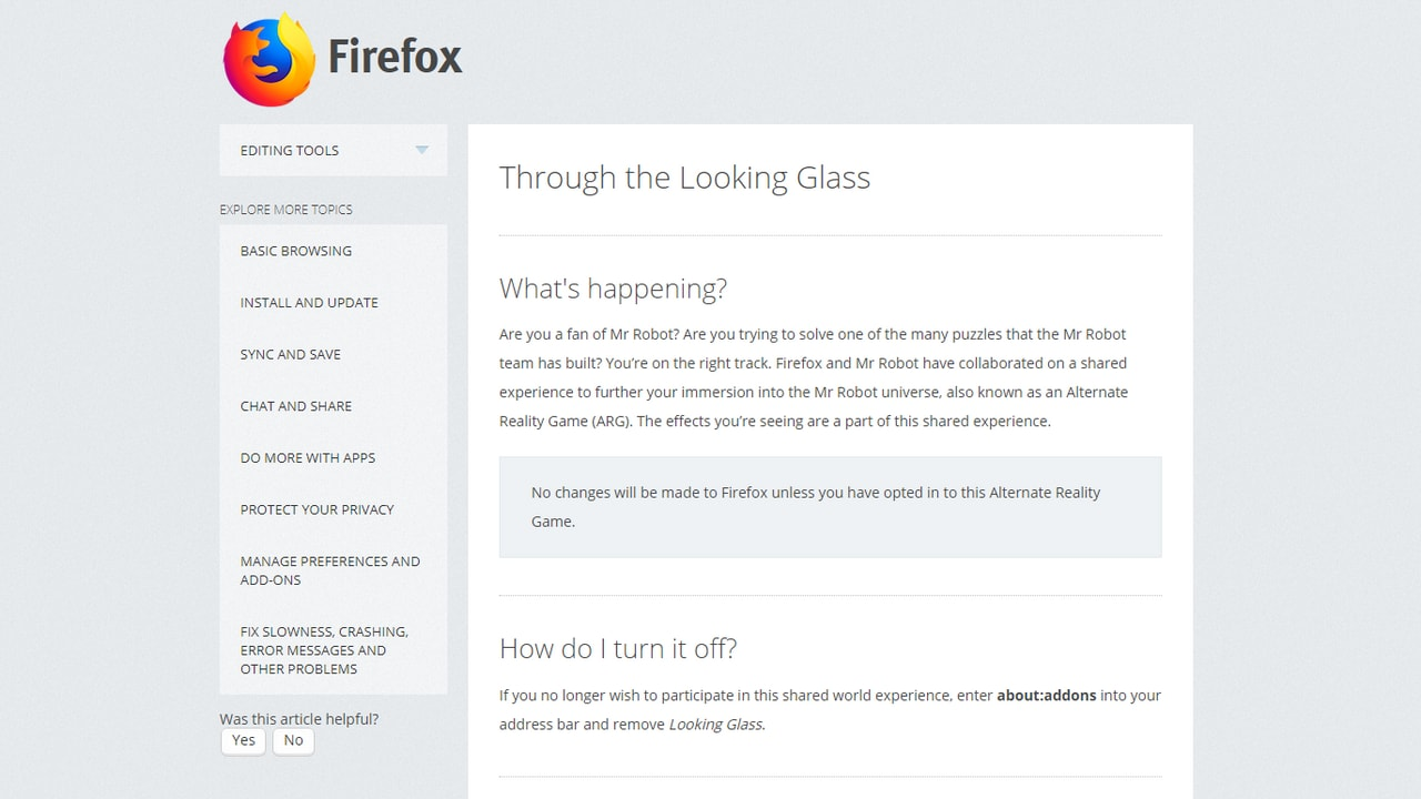 The explaination of the extension by Mozilla. Image: Mozilla