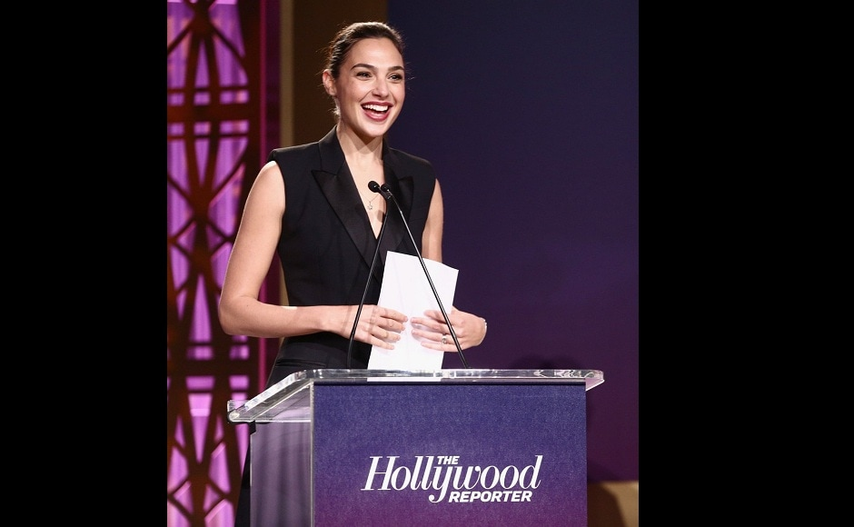 Carla Arellano, a college freshman, received a standing ovation and brought a room of Hollywood heavyweights to tears as she accepted a full-ride scholarship from Wonder Woman star Gal Gadot. Twitter/@GadotNetwork