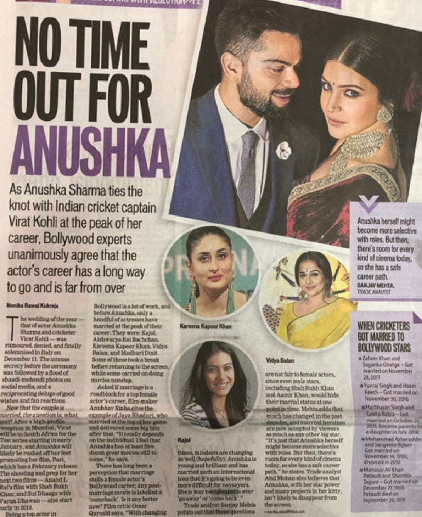 Sexist questions no ones asking Virat Kohli; why must Anushka Sharma bear all the brunt?