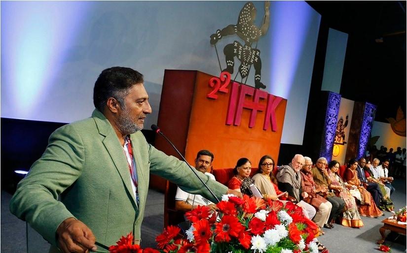 Prakash Raj at IFFK 2017. Image via Twitter