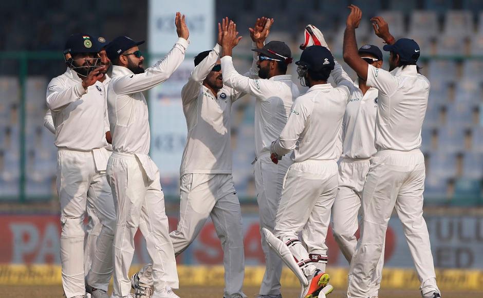 However, Ravindra Jadeja got the wicket of Angelo Mathews. Mathews was unlucky as replays later showed that Jadeja had bowled a no-ball. AP