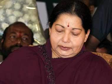 File photo of former Tamil Nadu chief minister Jayalalithaa. AFP
