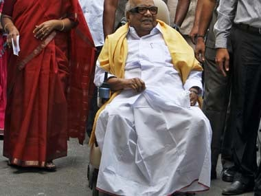 File image of M Karunanidhi. Reuters