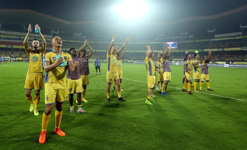 Kerala Blasters registered their first win of the ISL season at home to NorthEast United. Image Courtesy: ISL/SportzPics