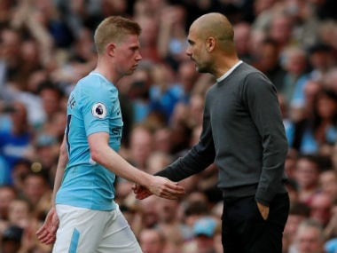 Pep Guardiola said Kevin De Bruyne was like a role model for the younger members of the side. Reuters