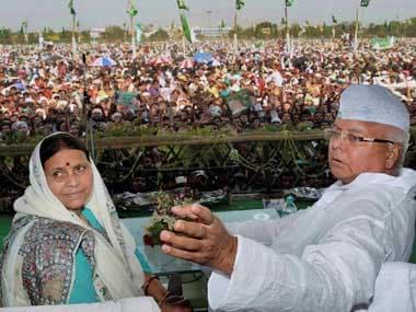 File image of former Bihar chief minister Rabri Devi. PTI