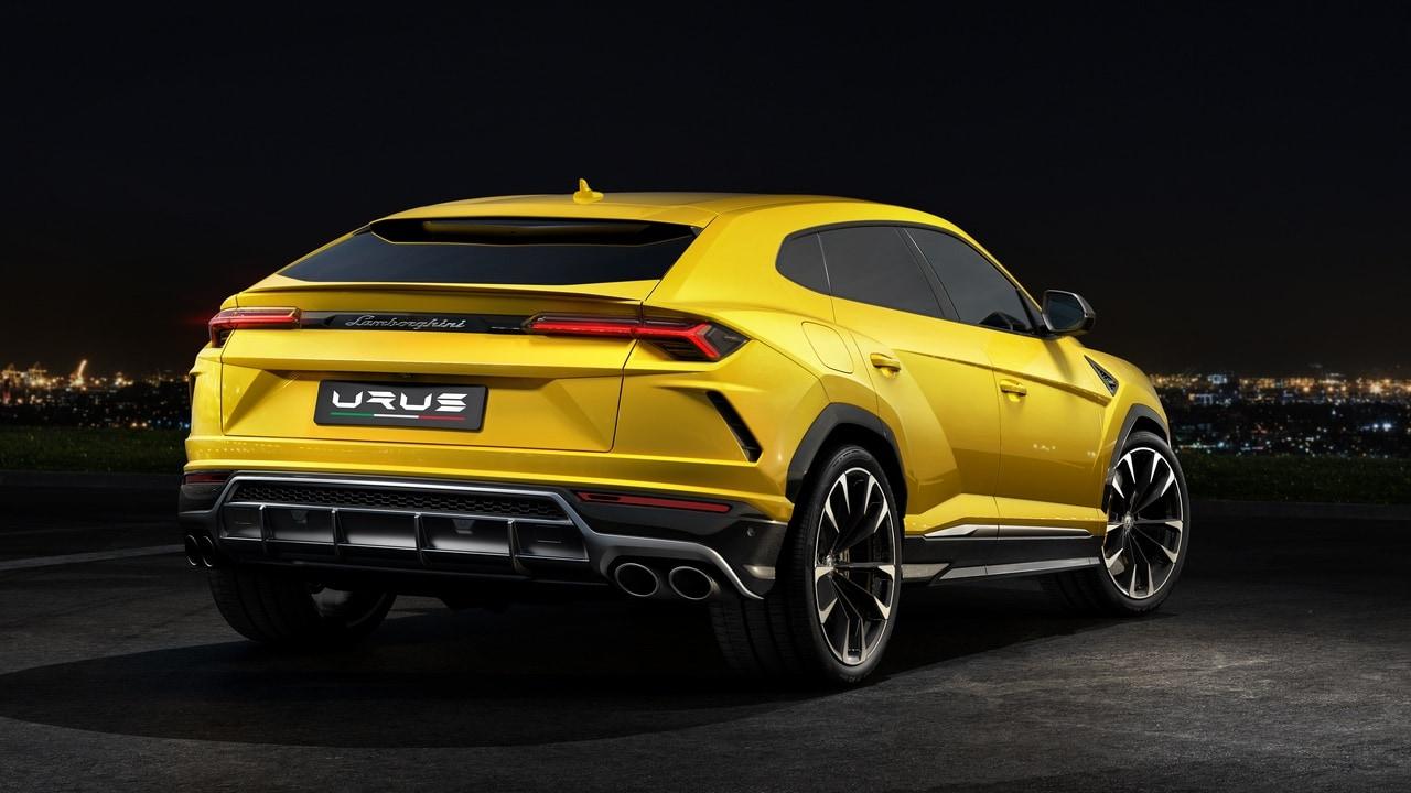 The back of the Lamborghini Urus. Image: Lamborghini
