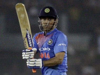 MS Dhoni hammered an unbeaten 39 off 22 balls at Cuttack while batting at No 4. AP