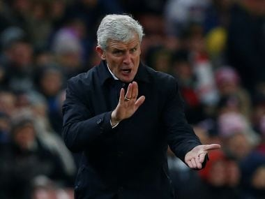Stoke City manager Mark Hughes. Reuters