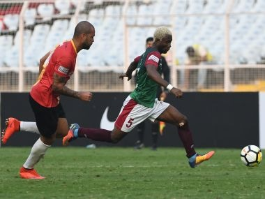 Mohun Bagan edged past East Bengal 1-0 in the first leg of Kolkata Derby. Image courtesy: I-League