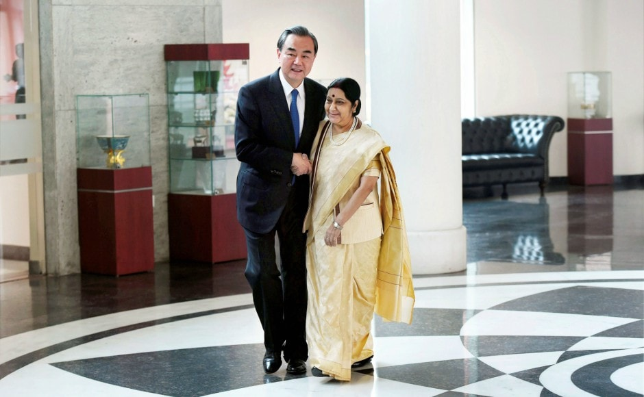The meeting between Sushma Swaraj and Wang Yi was the first high-level visit from China after Indian and Chinese troops were in a tense face-off earlier this year in Doka La on the border. PTI
