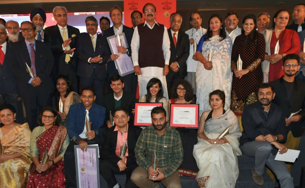 The 12th edition of the awards saw twenty seven journalists winning the prestigious award for outstanding work done in 2016. PTI