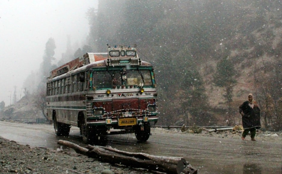 After a months-long dry spell, people were craving for rainfall or snow. The snowfall came as respite for many in the Valley on Monday as there were water crisis in many parts of Kashmir. Firstpost/Sameer Mushtaq