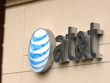 The AT&T logo is seen on a store. Image: Reuters