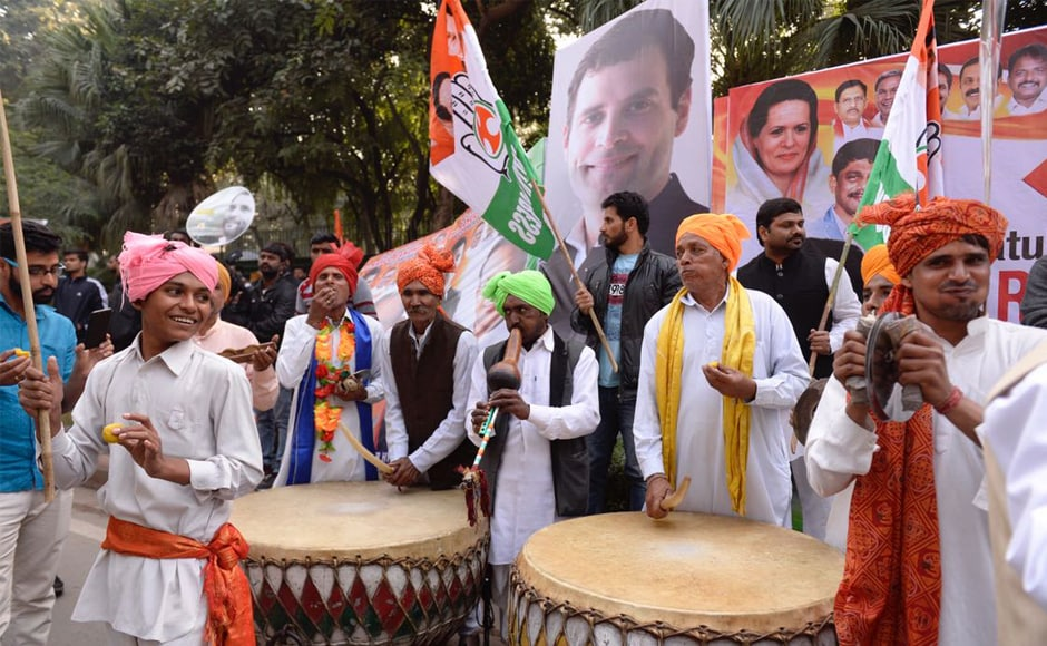 The ceremony was marked by loud celebrations as scores of Rahul Gandhi supporters danced to upbeat tunes, raised slogans, burst crackers and distributed sweets outside the party office in New Delhi. Twitter @INCIndia