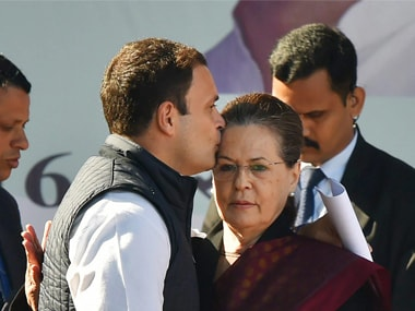 Congress president Rahul Gandhi's kiss on mother Sonia Gandhi's forehead is the perfect farewell to ex-party chief