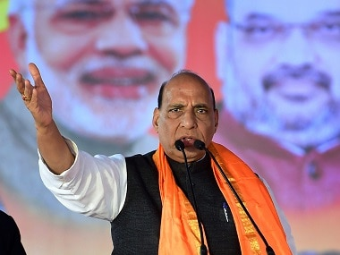 File image of Union home minister Rajnath Singh. PTI