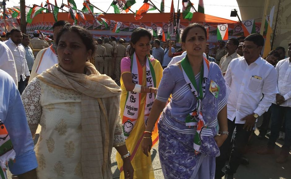 The rally was incidentally held on Pawar's 77 birthday, was also attended by senior leaders such as Ghulam Nabi Azad, Ashok Chavan and Prithviraj Chavan from the Congress. Besides Pawar's daughter, Supriya Sule and nephew Ajit Pawar were also present. Firstpost/Sanjay Sawant