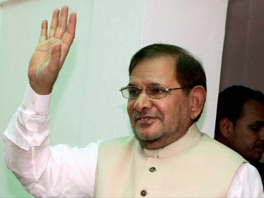 File image of former JD(U) leader Sharad Yadav. PTI