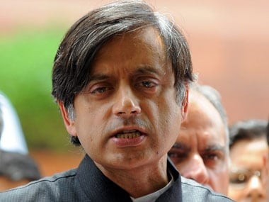 File image of Congress MP Shashi Tharoor. AFP