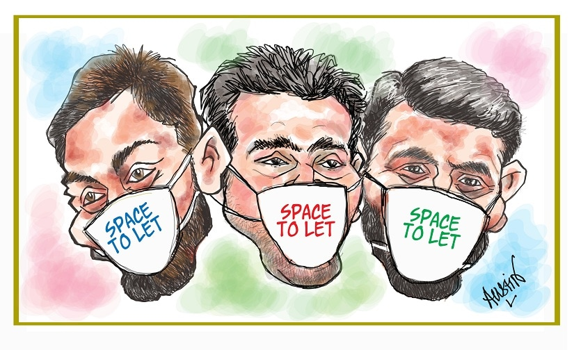 Is smog the new weapon in our cricketers' arsenal? Illustration courtesy Austin Coutinho