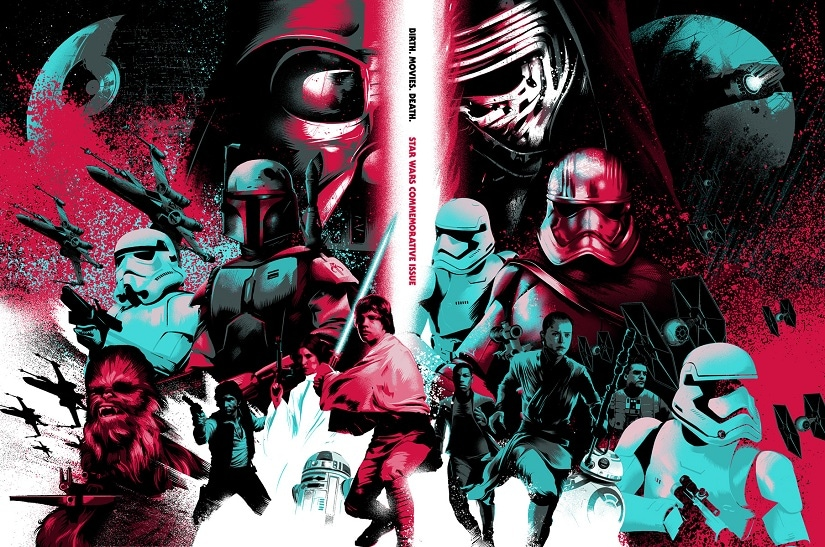 Star Wars artwork by Mondo artist Matt Taylor. Alamo Drafthouse
