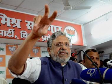 Sushil Kumar Modi, Bihar Finance Minister. PTI